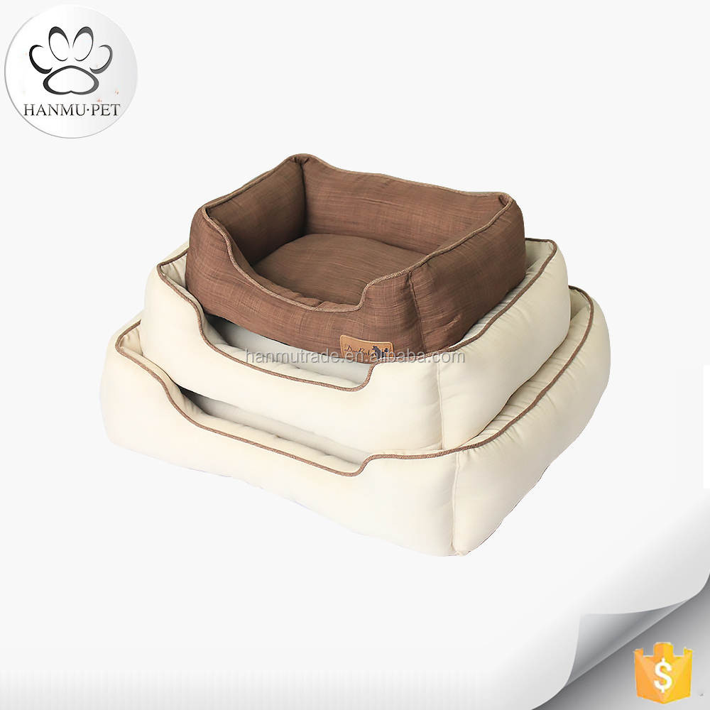 Luxury funny and high quality linen dog pet bed