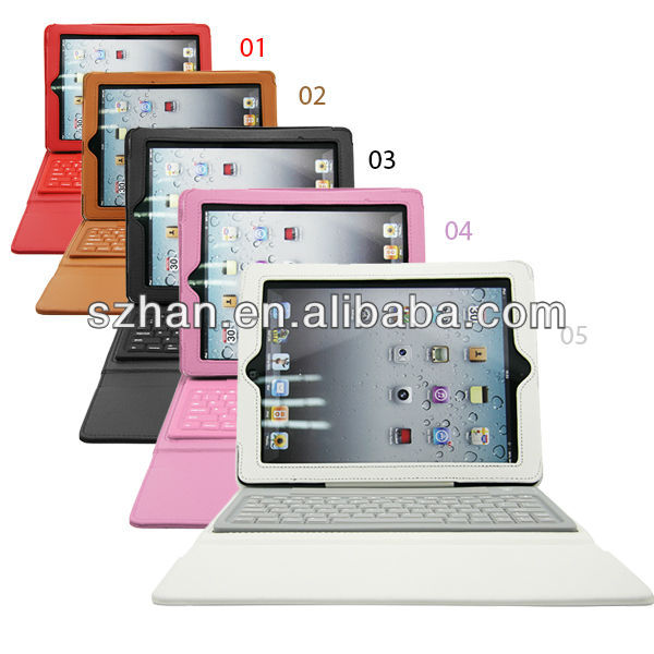 New Wireless Bluetooth Keyboard leather case For ipad 2 3 4