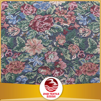Keqiao 70% polyester 30% cotton woven jacquard fabric for bedding set positioning flowers