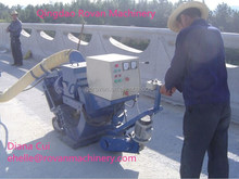Portable concrete pitch roadbed shot blasting machine