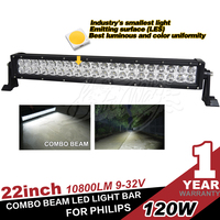New 22Inch 120W Led Light Bar Combo Work Driving Offroad Utv Truck Suv