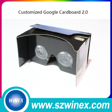 New google vr cardboard version 2.0 virtual reality 3d vr box 3D glasses