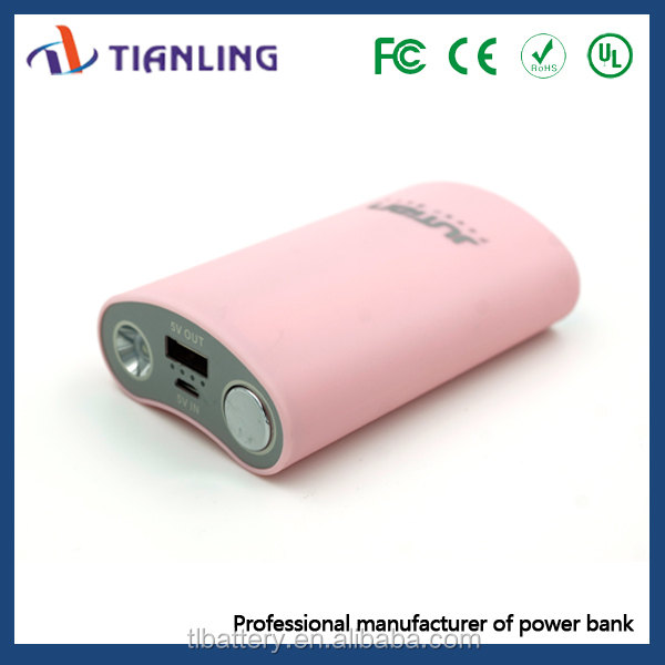 cute shape mobile phone power bank 9000mah with strong led torch light