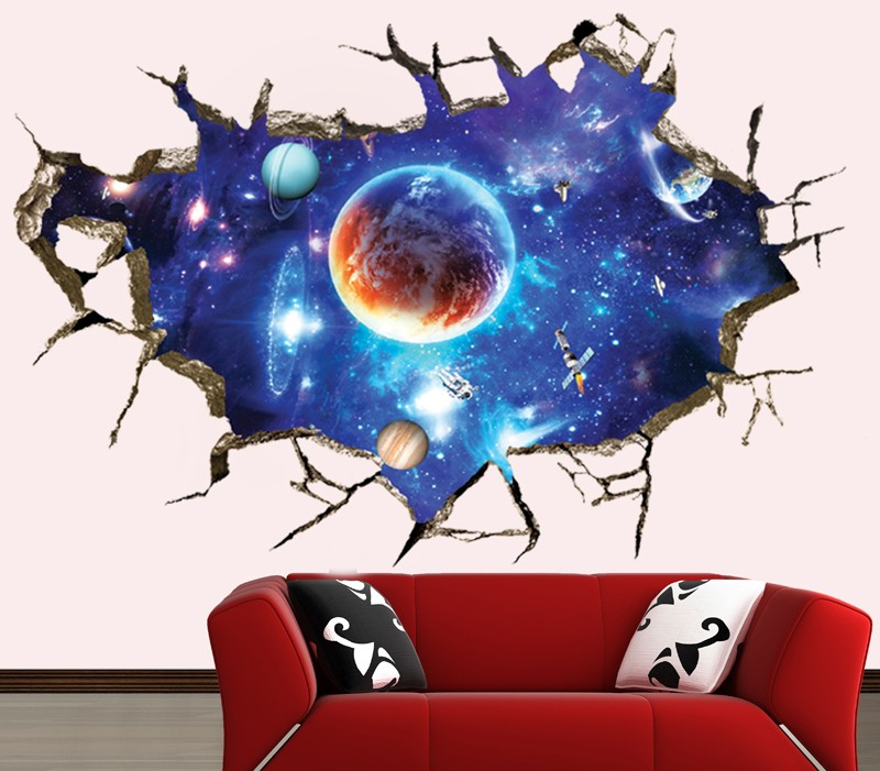 ALFOREVER Cosmic sky wall sticker for home decoration