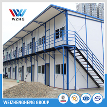 prefab homes, EPS, PU, Rockwool Sandwich Panel Prefabricated House double slope prefab house