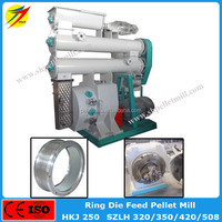 Ring die type quality warranty feed pellet machine for chicken cow animal food