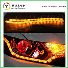 2016 New Products sequential style car flexible switchback led daytime runnning light with steering