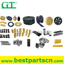 Heavy equipment excavating machine undercarriage parts undercarriage