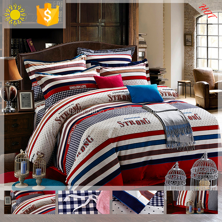 Holiday bedding sets printed cotton bed cover set