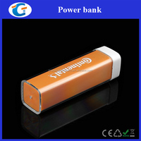 Fancy gift external battery charger portable lipstick power bank 2800mah