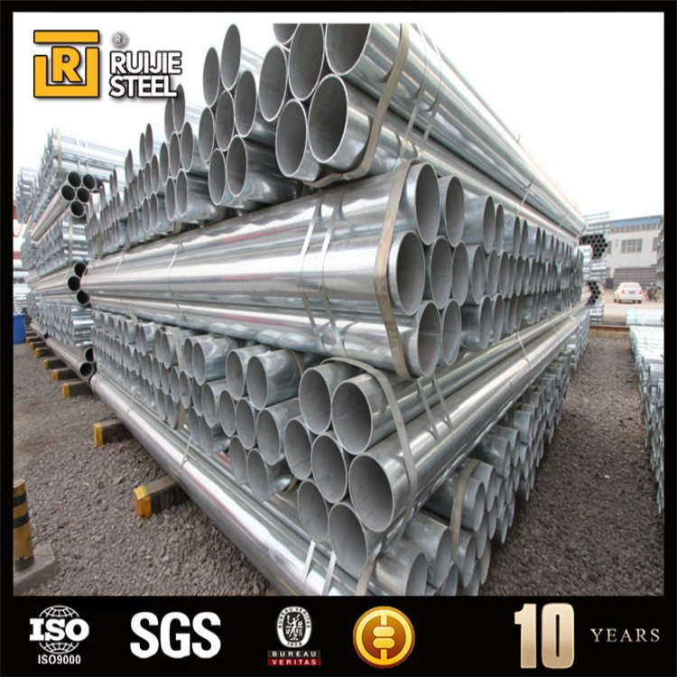 Scaffolding Steel Pipe Pre-Galvanized ERW Pipe/welding rod for gi ms pipe welding