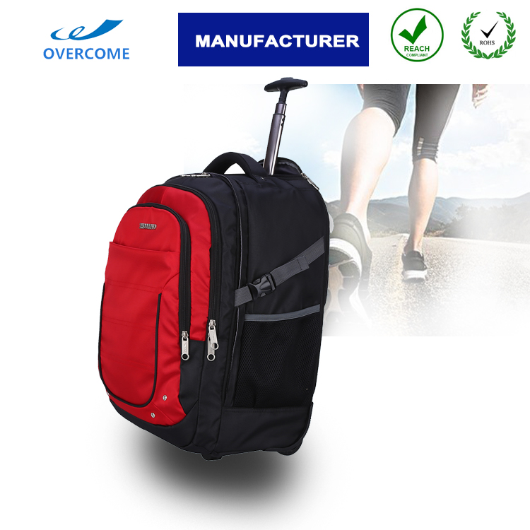Trolley laptop bag wheeled rucksuck computer backpacks with wheels