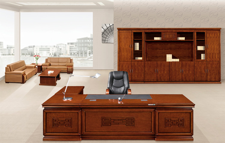 solid wood classic style office furniture