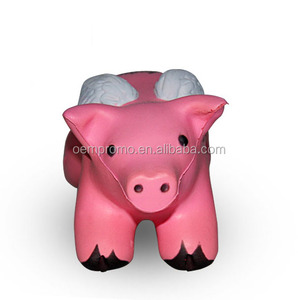 Pink Pig PU Stress Reliever Customized Shape PU Stress Ball