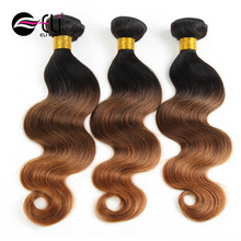 Best Selling Body Wave Color 1B/4/30 Three Tone Ombre Brazilian Hair Weave Wet And Wavy Brazilian Human Hair Weaves