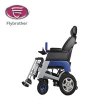 Handicapped using stair climbing 8 inch wheelchair wheel
