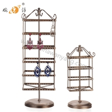 2016 Yiwu manufacturer home decoration rotating metal display rack for earrings