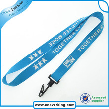 2015 high quality fabric printed lanyards with plastic release breakaway connecter