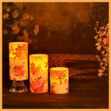 4pieces per set Dripping Wax Wave top led candles