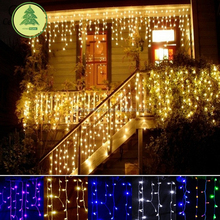 christmas decoration Droop curtain icicle string led lights New year Garden Xmas Wedding Party