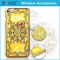 Supply Luxury Unique Design Your Own Epoxy Dripping Chrome Gold TPU Mobile Phone Cases For iPhone 6S