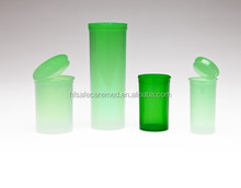 Green Pop Snap vials bottles Rx cap cannabis lid plastic hinged containers