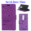 Magic Girls Flip Leather Wallet Mobile Phone Case for LG Zero Glass