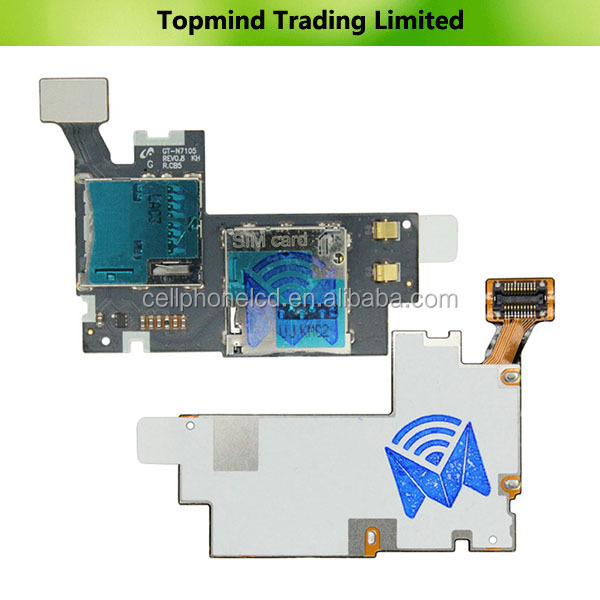 Sim Card and SD Card Reader Flex Cable for Samsung Galaxy Note II LTE N7105