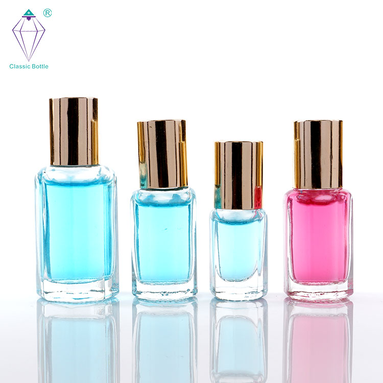 new product 10ml cosmetic packaging empty glass bottle perfume roll on bottles