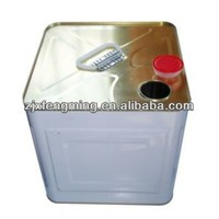5 gallon white coating Square metal drum for paint