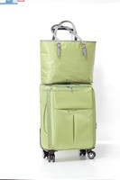 2015 new style nylon bright color travel luggage