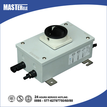 Metal Enclosure DC Load Break Switch with MC4 / Waterproof PV Isolator HGN4-07