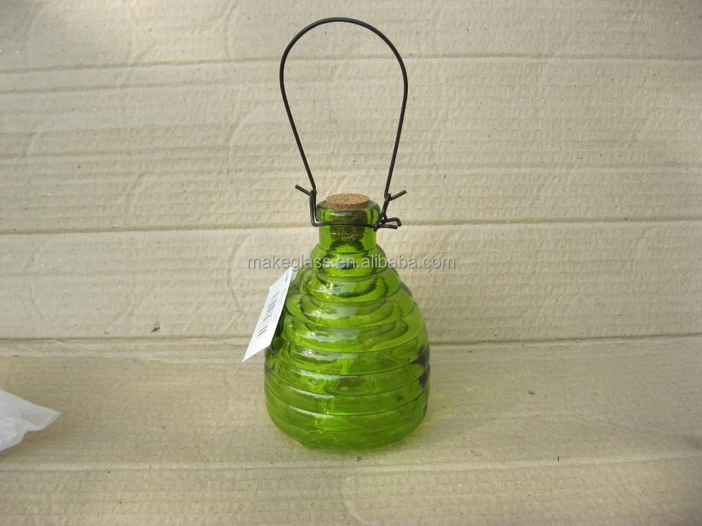 3 gr en farbiges glas wespenfalle h ngen glas biene. Black Bedroom Furniture Sets. Home Design Ideas