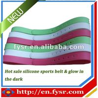 2013 newest design silicone belt with glow in the dark