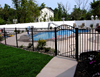 Fixable & Anti-rust Aluminum modern fence panels/rod iron fencing/decorative yard fencing