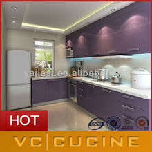 Purple high-grade kitchen cabinet of china home furniture