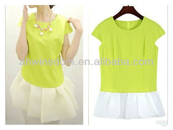 SUMMER NEW KOREAN SWEET FRESH VEIL SHORT-SLEEVED DRESS D90706S