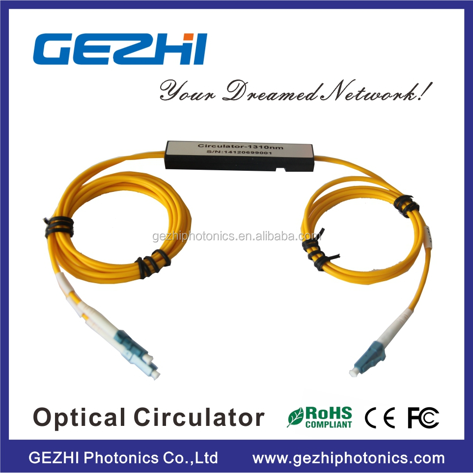 PM optical circulator 3 port S+C+L Band wavelength 1550nm Optical Circulator with mini box FTTH