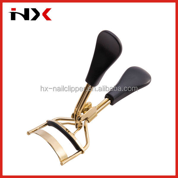 Black Plastic Handle Gold Color Eyelash Curler