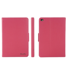 simple pu leather tablet flip folio cases for ipad mini 4 with stand function