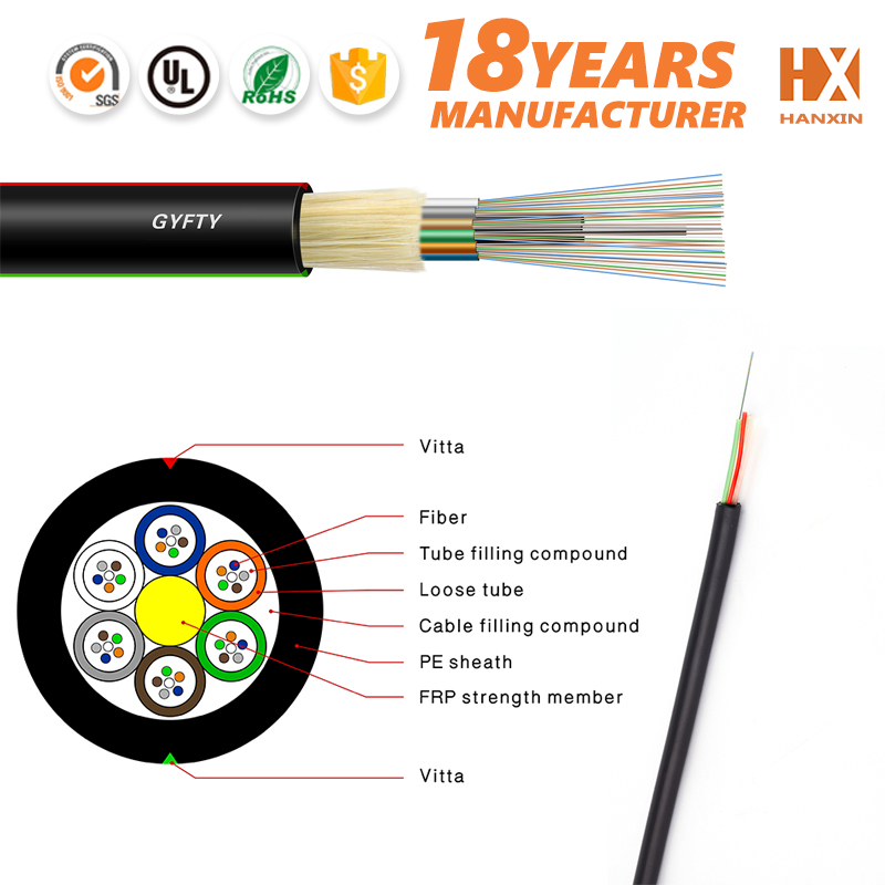 supply GYFTY 12 core aerial optical fiber cable unitube type for outdoor use