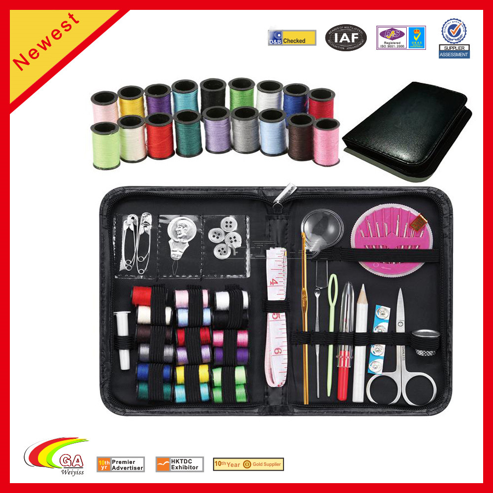 New Design Faux Leather Travel Sewing Kit Sewing Set