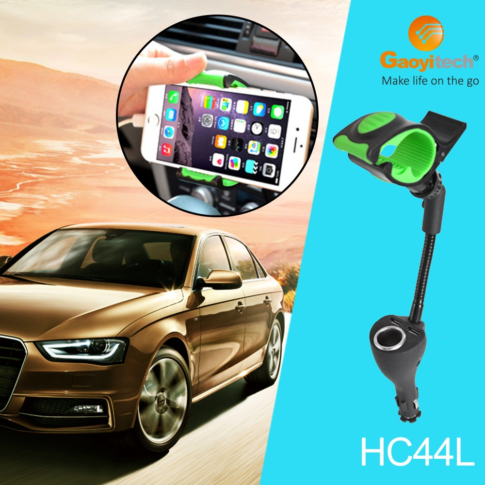 China warehouse for dual USB car smartphone charger hold steadily