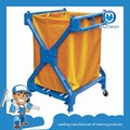 Telescopic cleaning clean fold laundry cart