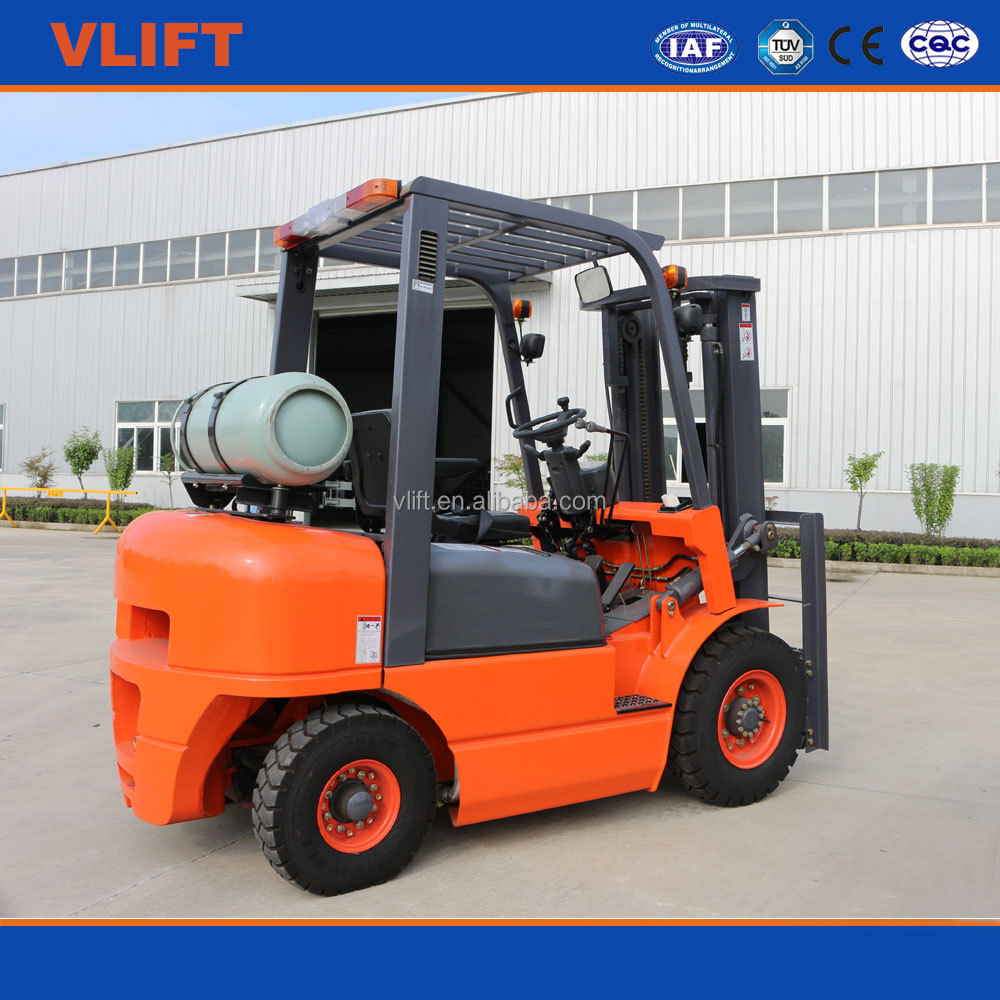 LPG & gasoline forklift 2 Ton With 3 M Lifting With Low Price