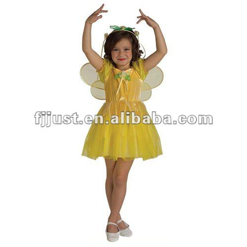 child yellow belle costume