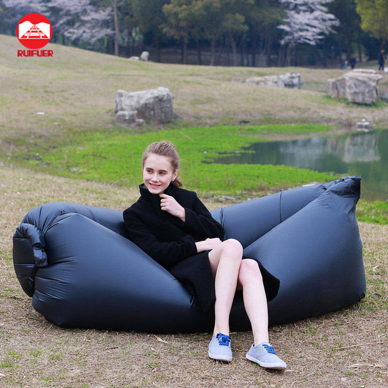 Original Factory Wholesale New Outdoor Beach Big Sleeping Fast Filled Inflatable Air Bean Bag