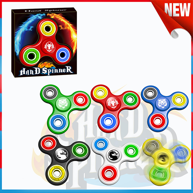 Popular Steel Ball bearing Plastic Finger Spinning Top Toy