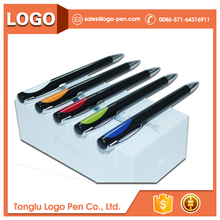 cheap custom pc screen writing white plastic pen