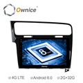 "Ownice C500+ 10.1"" Octa Core 32GB ROM Android 6.0 Car Multimedia for Golf 7 2013 2014 2015 Support TPMS DTV DAB OBD"